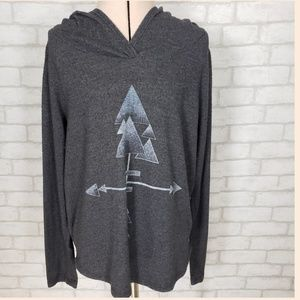 Project Social T Charcoal Gray Hoodie Size Medium